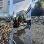 Se modernizeaza/reabiliteaza, IN SFARSIT, zona pietonala dintre Casa Sindicatelor si complexul comercial Winmarkt